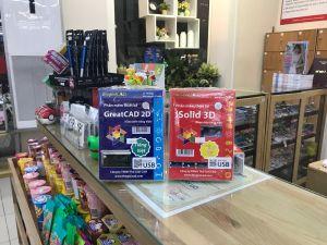 Phần mềm thiết kế GreatCAD 2D & iSolid 3D đóng gói trong USB nhỏ gọn, tiện lợi đang có bán tại nhà sách FAHASA Cây Gõ
