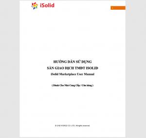 Hướng dẫn sử dụng Sàn Giao Dịch TMĐT iSolid - Nhà Cung Cấp