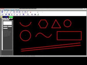 Đường nét 2D (GREATCAD2D_CIRCLE_LINE_SPLINE_RECTANGLE_ARC_RED)