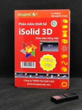 Phần mềm thiết kế iSolid® 3D phiên bản tiêu chuẩn – Giao diện tiếng Việt (USB/2020/01)