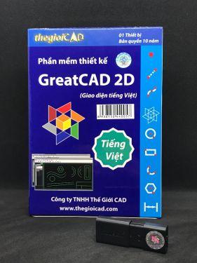 Phần mềm thiết kế GreatCAD® 2D phiên bản tiêu chuẩn – Giao diện tiếng Việt (USB/2020)