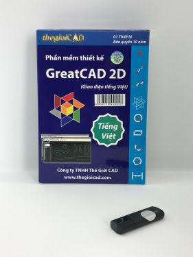 Phần mềm thiết kế GreatCAD® 2D phiên bản tiêu chuẩn – Giao diện tiếng Việt (USB/2020/01)
