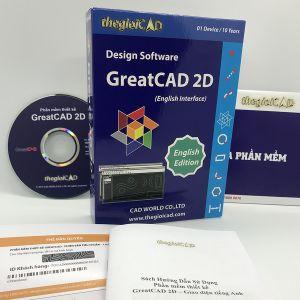 Phần mềm thiết kế GreatCAD phiên bản tiêu chuẩn 1.0.9.0– Giao diện tiếng Anh