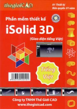 Phần mềm thiết kế iSolid 3D phiên bản tiêu chuẩn 1.0.7.0 - Giao diện tiếng Việt (CD/04/2021) - Hàng chính hãng - Bản quyền 01 năm