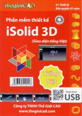 Phần mềm thiết kế iSolid 3D phiên bản tiêu chuẩn 1.0.7.0 - Giao diện tiếng Việt (USB/04/2021) - Hàng Chính Hãng - Bản quyền 01 năm